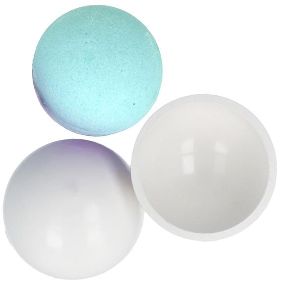 Molde bomba de banho esfera pvc 7,5 cm