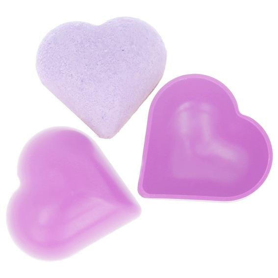 Molde bomba de baño pvc corazon