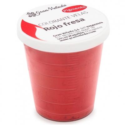 Corante velas pigmento vermelho morango