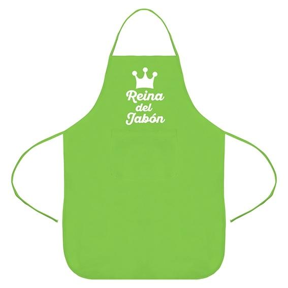 Delantal verde reina del jabon