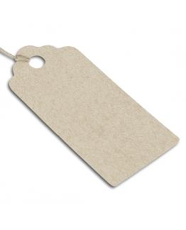 Etiquetas com cordao 9x4 cm