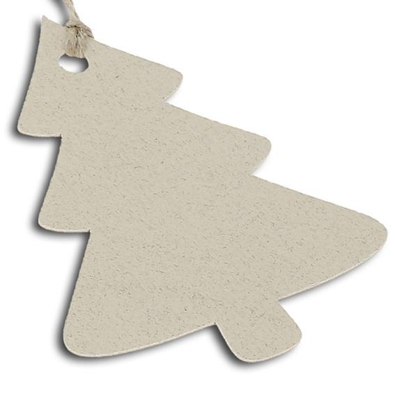 Etiqueta de carton abeto navidad