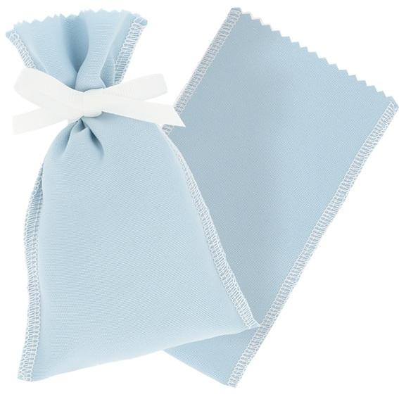 Bolsita de tela lisa azul claro