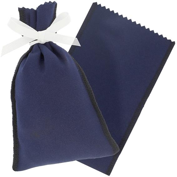 Saco de pano azul marinho