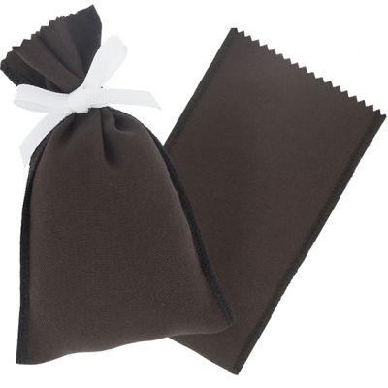 Saquito de tela marron chocolate