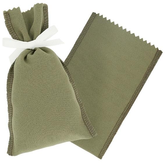 Saquito de tela verde militar