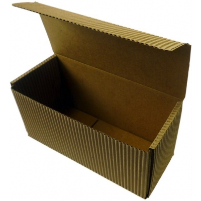 Cajita rectangular de carton ondulado