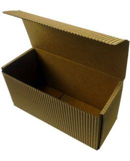 Cajita automontable rectangular Cartón ondulado para regalo.
