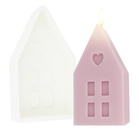 Molde de casinha de Natal grande para velas