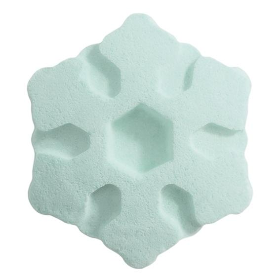 Molde bomba de baño copo de nieve