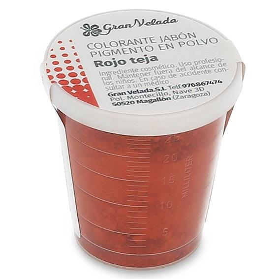 Pigmento en polvo rojo teja para jabon