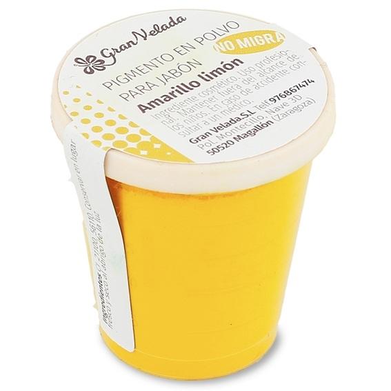 Pigmento polvo jabon amarillo limon