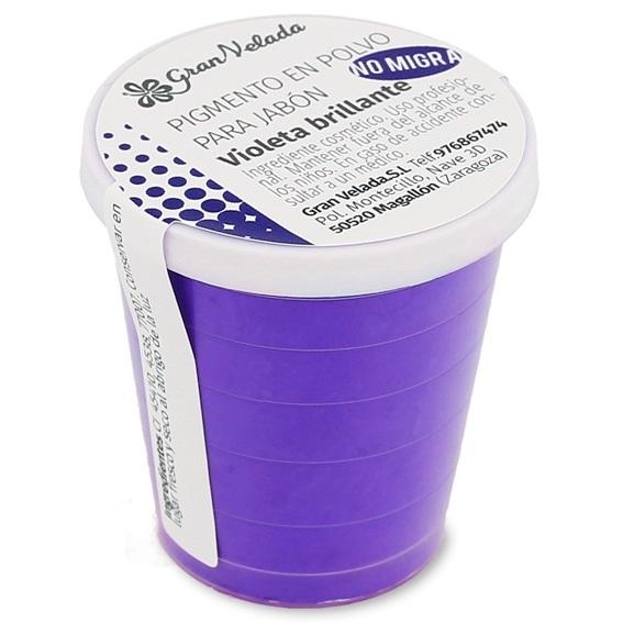 Pigmento em po sabao violeta brilhante