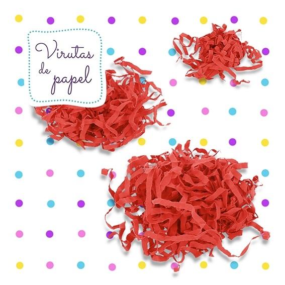 Virutas de papel rojo