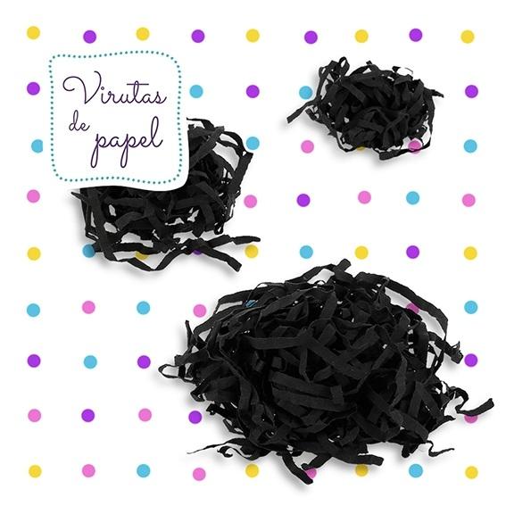 Virutas de papel negro