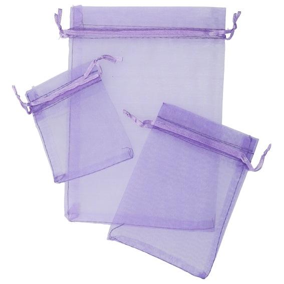 Saquinhos de organza lilas