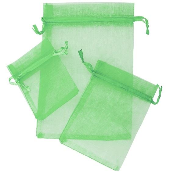 Bolsitas de organza verde esmeralda