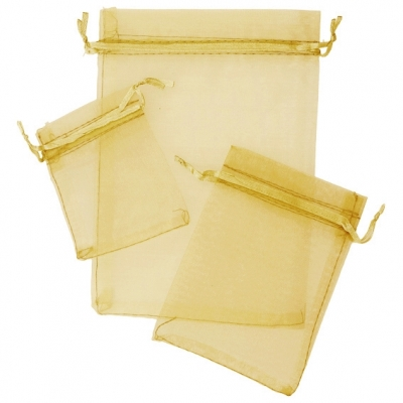 Sacos de organza dourada