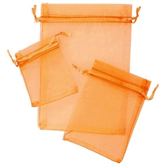 Sacos de organza laranja