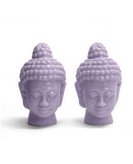 Molde 2 cabeças de Buda gémeas pequenas