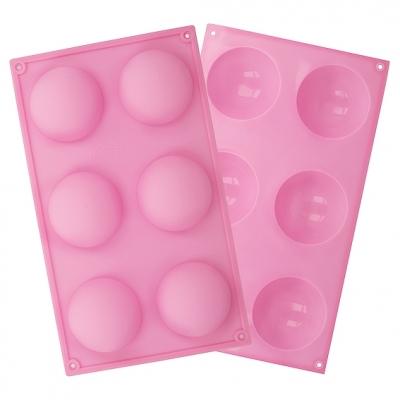 Molde 6 meias esferas de 6,5 cm