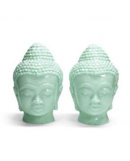 Molde dos cabezas de Buda gemelas medianas