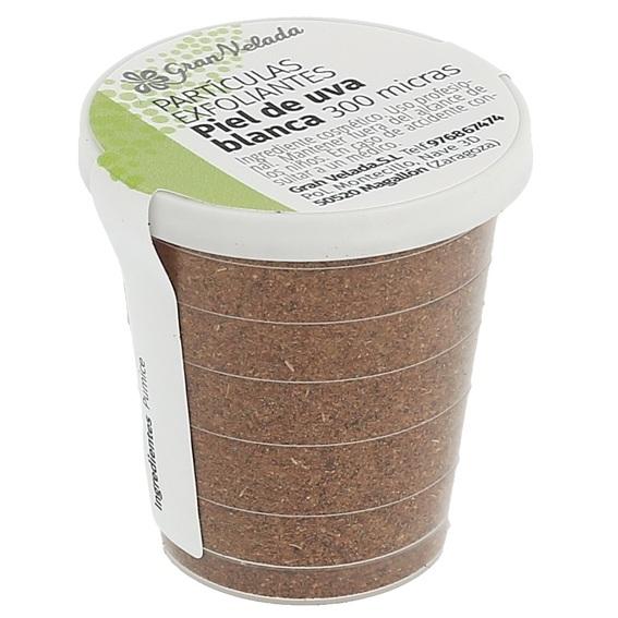 Particulas exfoliantes de piel de uva blanca 300 micras