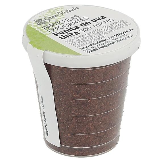 Particulas exfoliantes de piel de uva tinta 500 micras