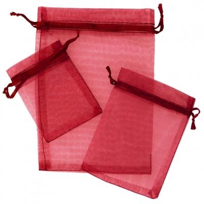 Sacos de organza vermelho