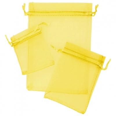 Sacos de organza amarela