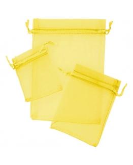 Sacos de organza tons amarelos