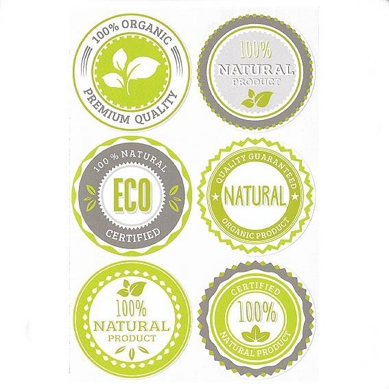 Pegatinas mix producto natural grandes