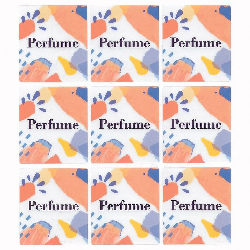 Pegatinas perfume para envase cuadrado