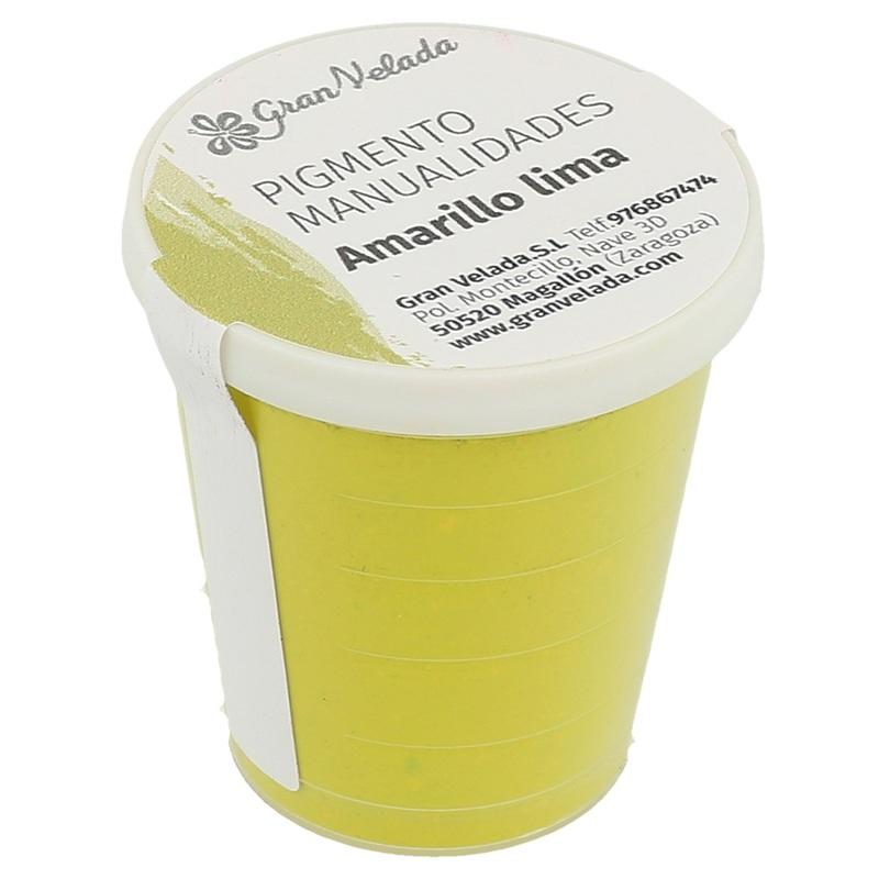 Pigmento amarillo lima para manualidades