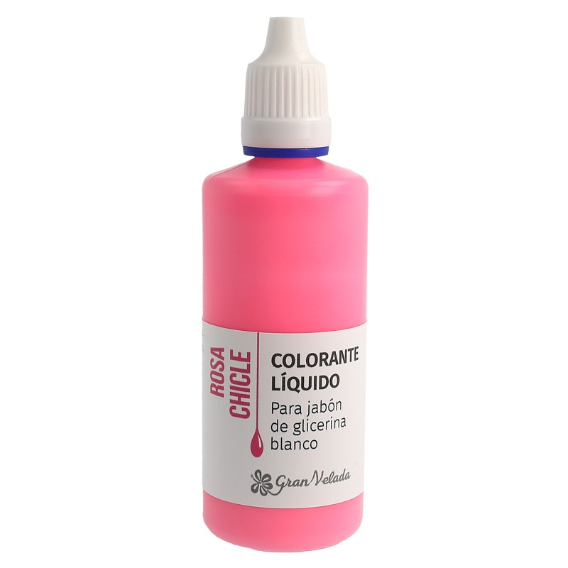 Colorante jabon glicerina rosa chicle