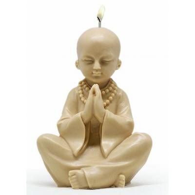 Molde buda criança rezando para velas