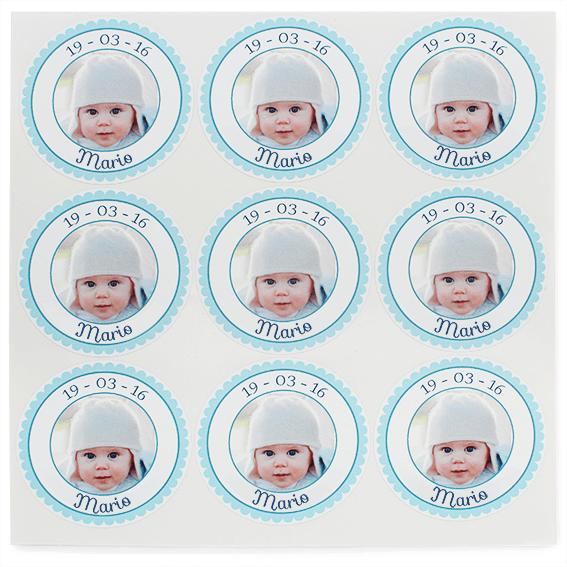 Pegatinas personalizadas con foto niño