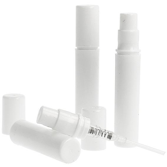 Frasco spray branco mini 3 ml