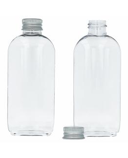 Botella pet ovalada 75 ml tapon de aluminio