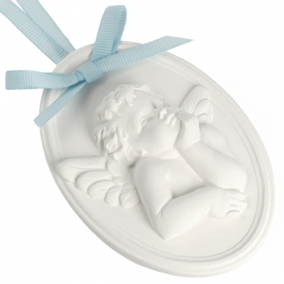 Molde ceramica perfumada angel medallon