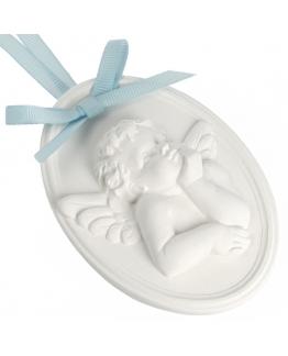 Molde ceramica perfumada medalha anjo