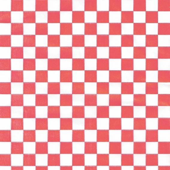 Papel encerado cuadros rojos