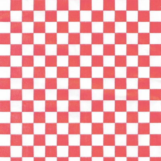 Papel encerado quadros vermelhos