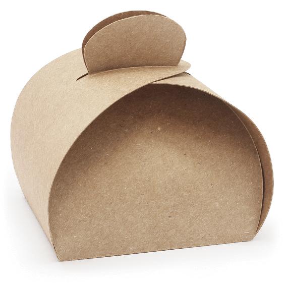 Caja kraft estilo pastelera