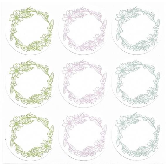 Pegatinas para escribir herbal redondas