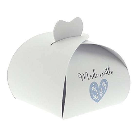 Caja estilo pastelera made with love
