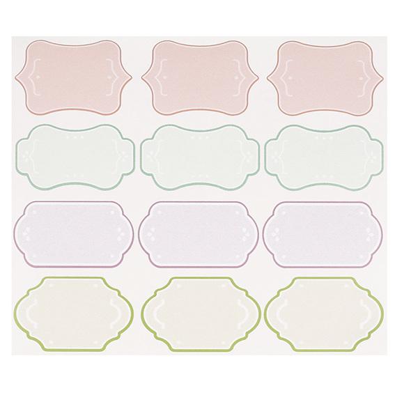 Adesivos de cores para escrever em cima