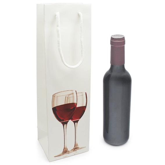 Saco vinho 3/4 com taças