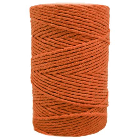 Cordao de algodao cor laranja