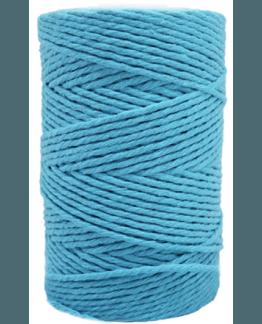 Cordão de algodão cor turquesa